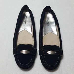 MICHAEL Michael Kors black suede loafers
